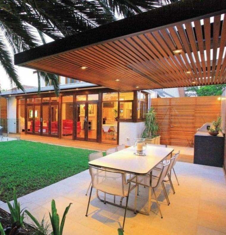 Porches para terrazas modelos de espacios semicubiertos - Cubiertas de terrazas ...