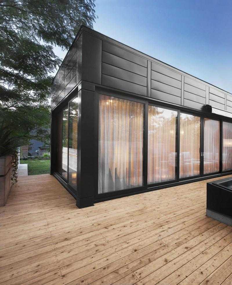 diseño terraza madera minimalista