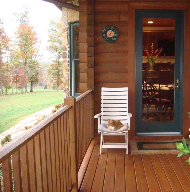 terraza porche madera natural