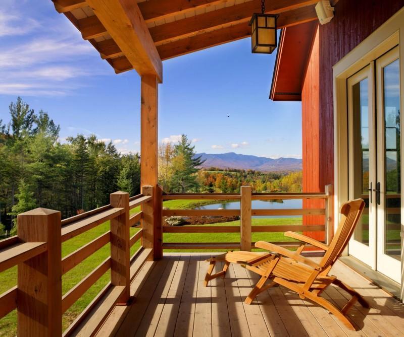 decoracion de terrazas ideas con elementos de madera