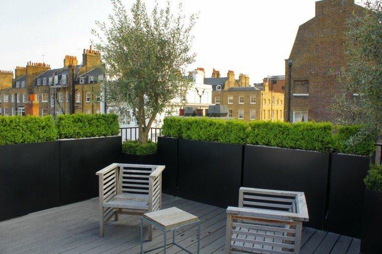 terraza moderna decoración minimalista