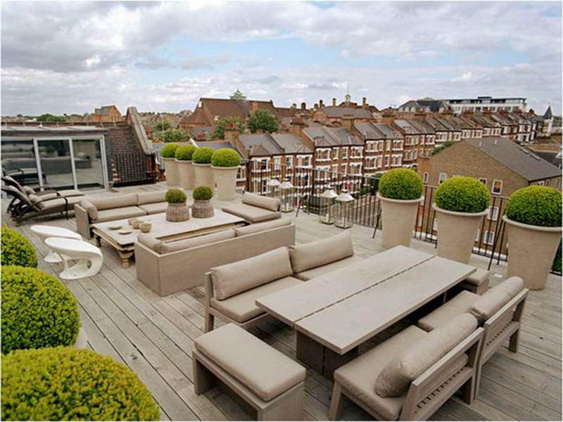deco terraza muebles beige