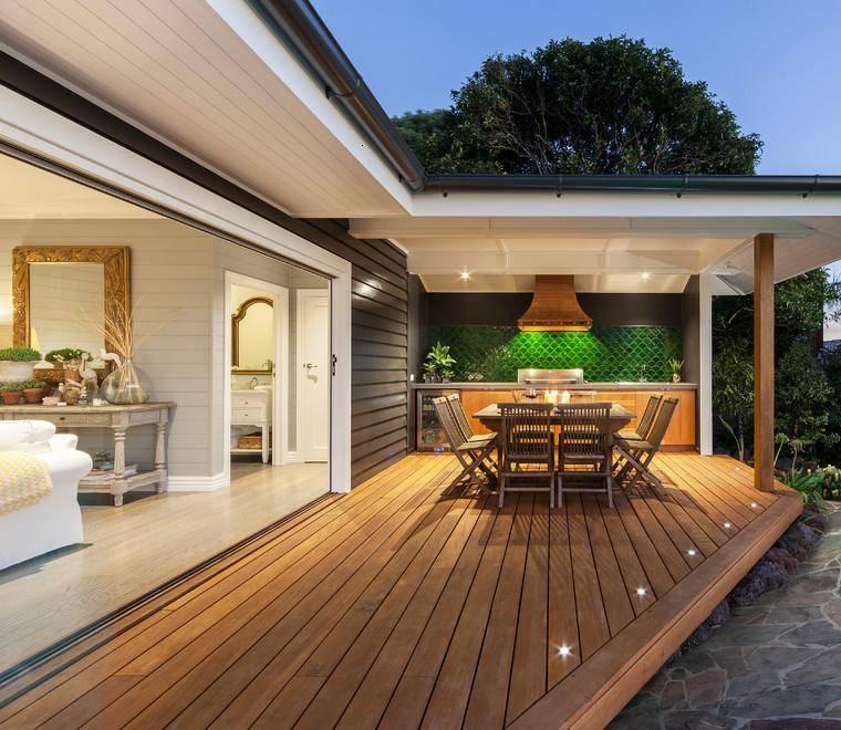 terrazas cubiertas decoracion porche plataforma madera