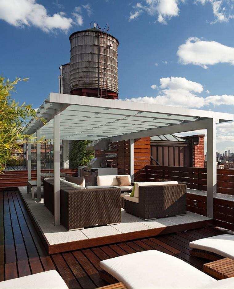estupenda terraza moderna vistas