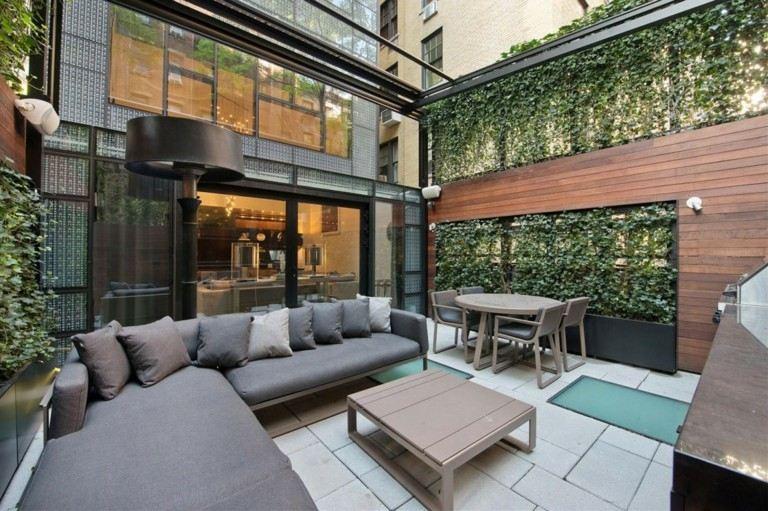 terraza lujosa moderna patio interior
