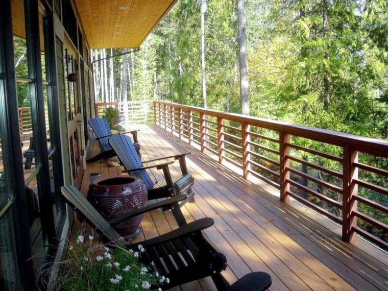 decoracion para terrazas modernas madera diseño moderno