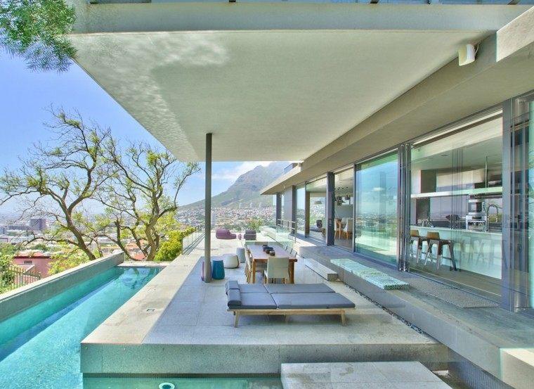 Muebles de terrazas de dise o moderno 38 dise os for Terrazas modernas exterior