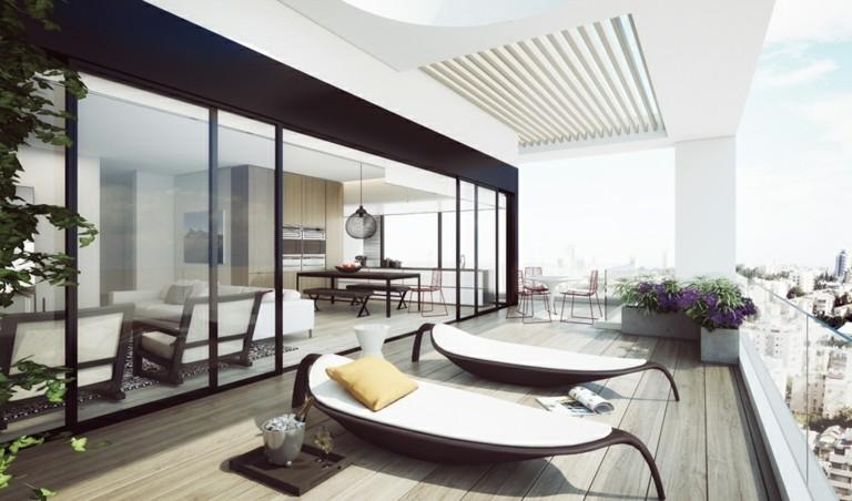 terrazas lujosas bonitas tumbonas