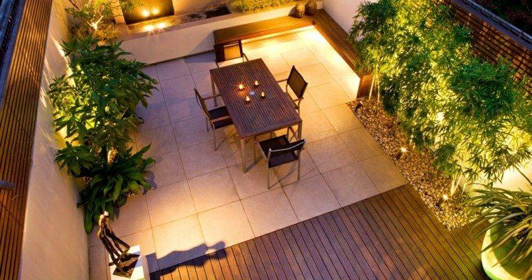 decoracion para terrazas modernas madera teca natural