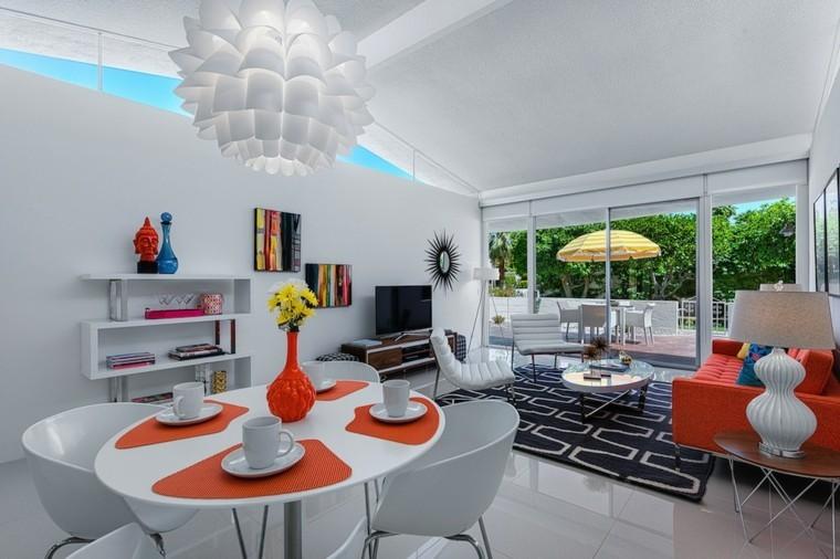 toques color naranja decorar salon ideas