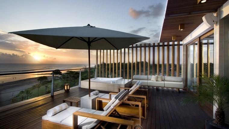 tumbonas terraza tomar sol aire libre ideas