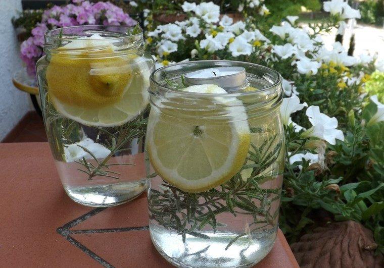 velas decoracion casa agua limones ideas