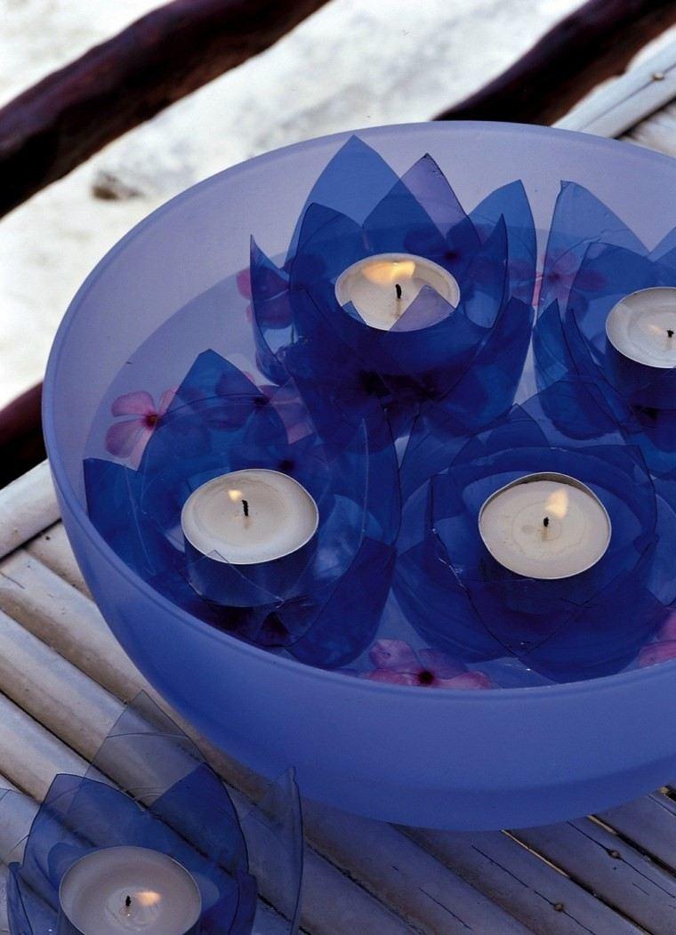 velas aromaticas decoracion casa botellas plastico ideas