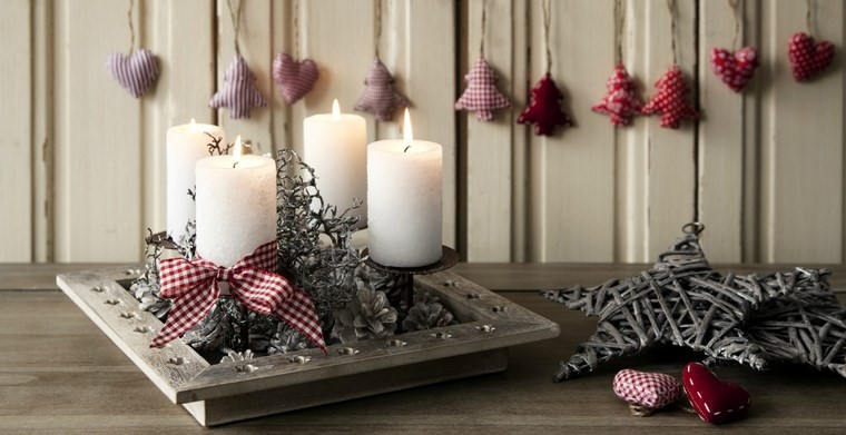 velas aromaticas decoracion casa centro mesa navidad ideas
