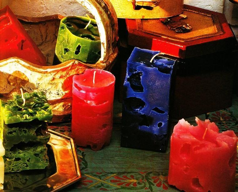 velas decoracion casa coloridas ideas