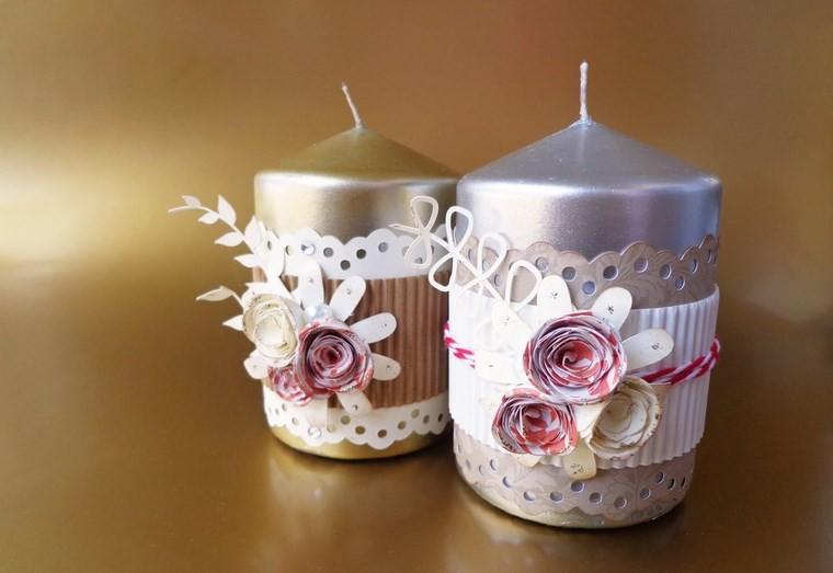 vela aromatica decoracion casa flores ideas