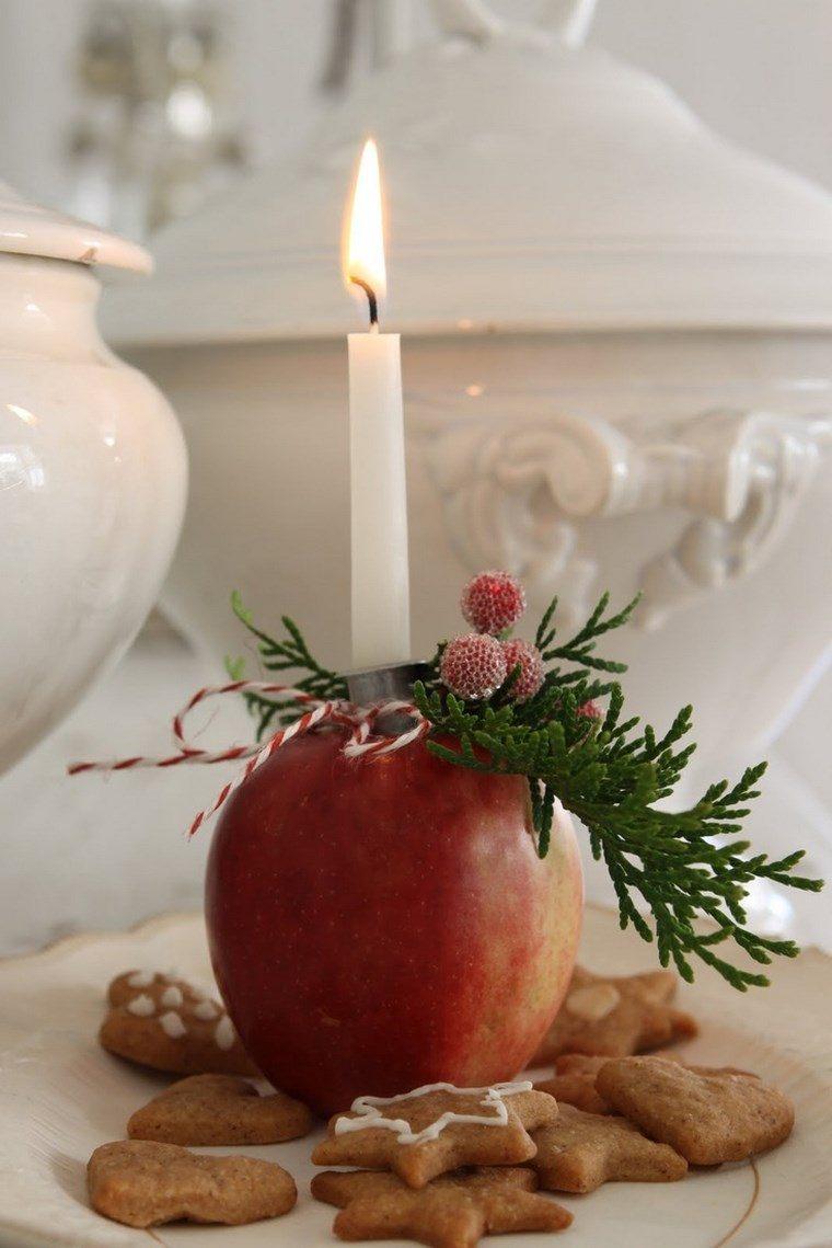 vela aromatica decoracion casa manzana ideas