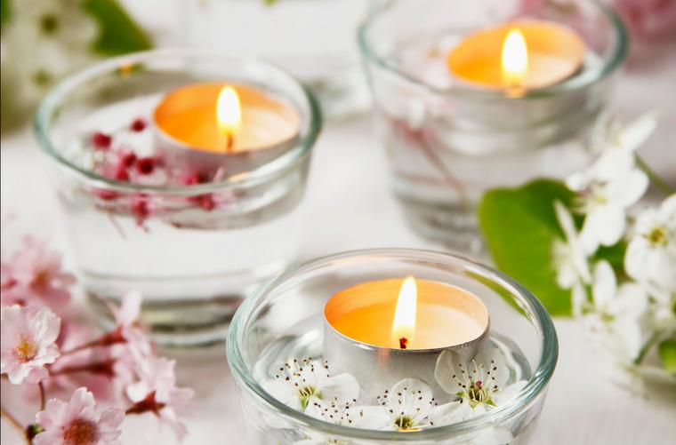 vela aromatica decoracion casa romantica ideas