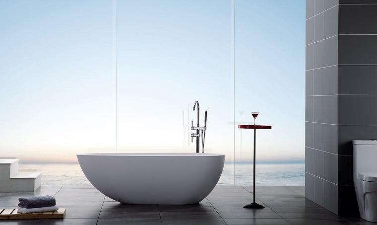 vista unica baño minimalista