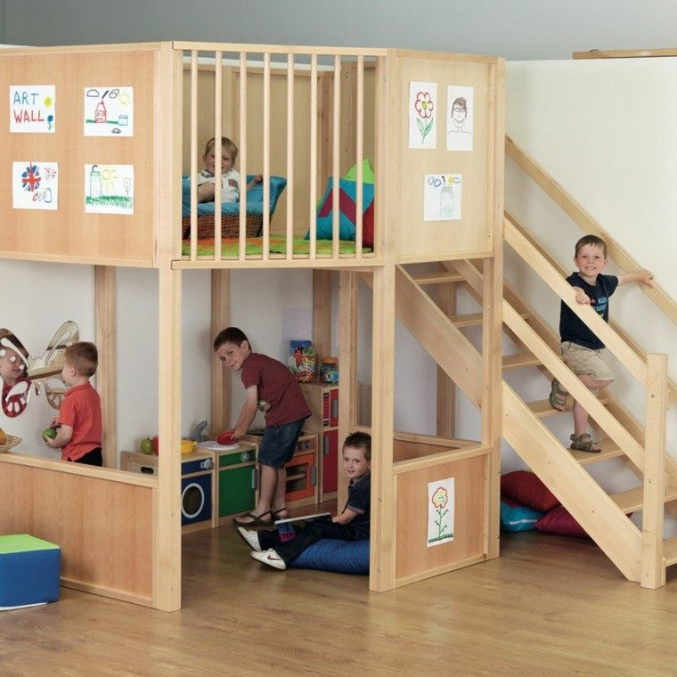 zona juegos estructura modular madera