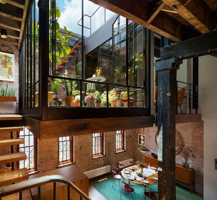 Andrew Franz Architect diseno loft alfombra azul ideas