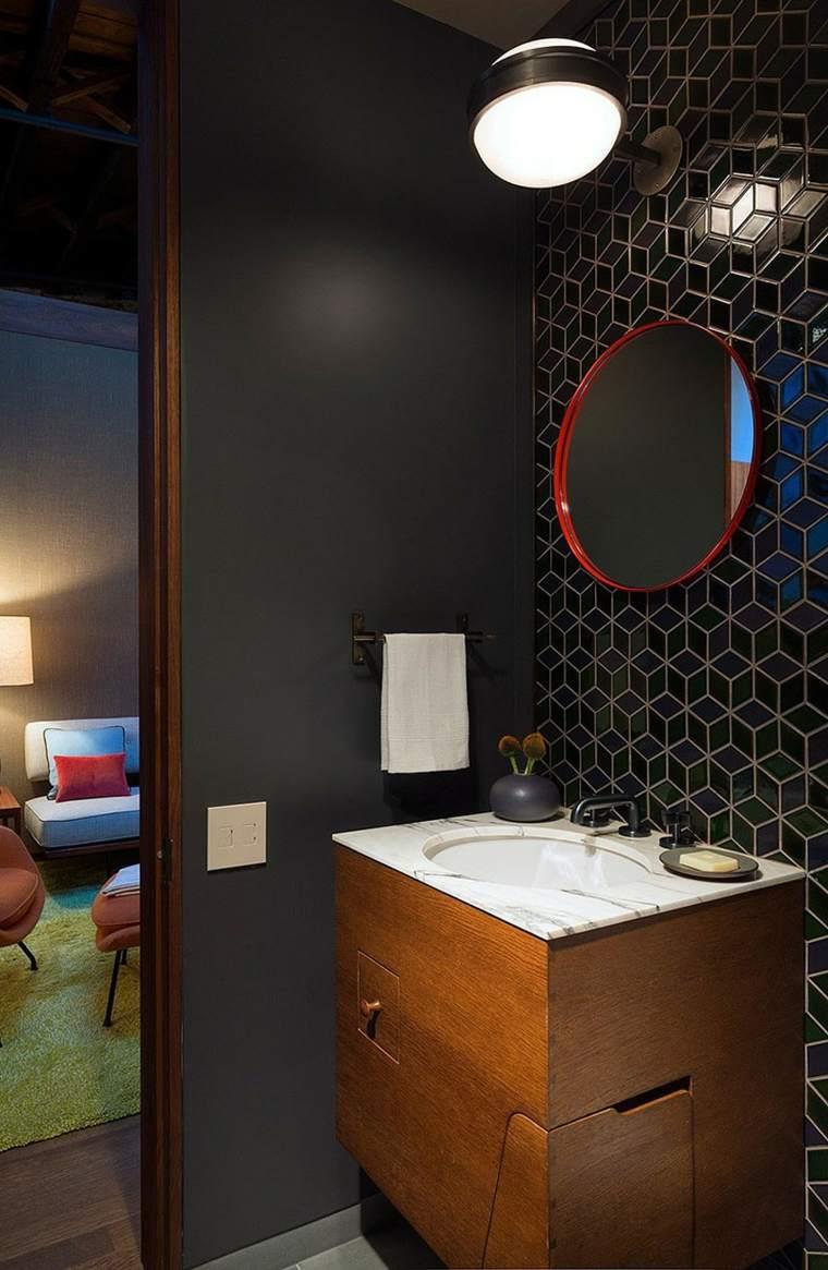 Andrew Franz Architect diseno loft bano espejo losas ideas