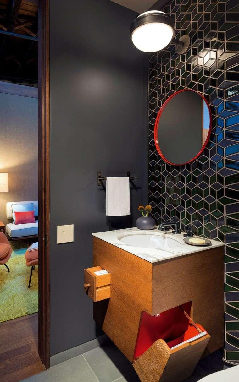 Andrew Franz Architect diseno loft bano espejo ideas