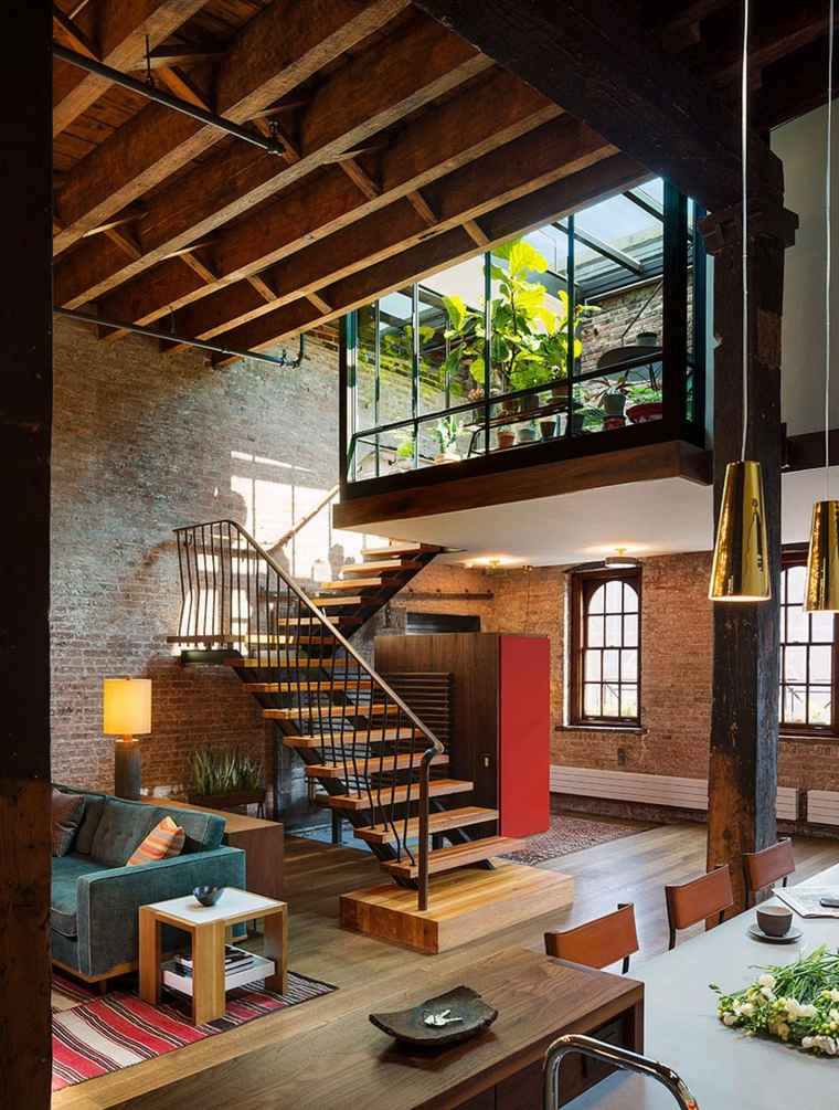 Andrew Franz Architect diseno loft escaleras ideas