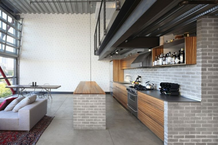 muebles para loft HED Architecture Design cocina isla ideas