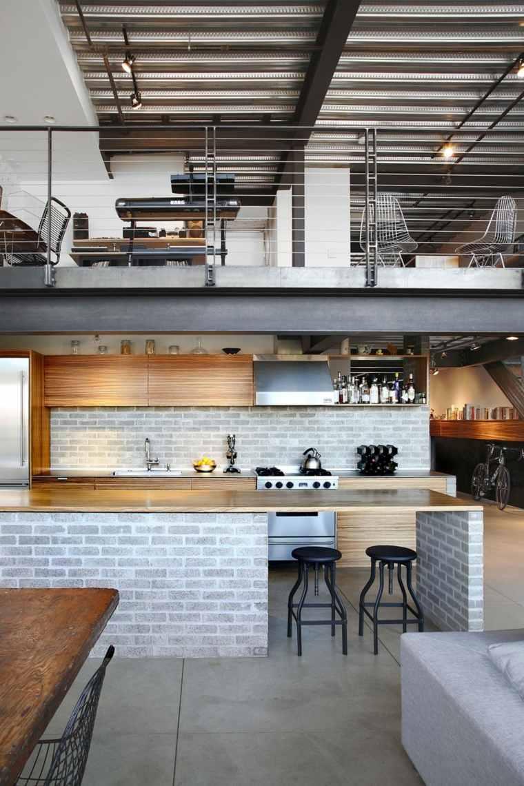 muebles para loft HED Architecture Design cocina ideas