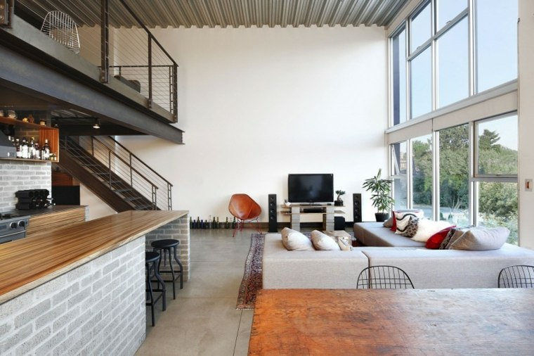 muebles para loft HED Architecture Design salon moderno ideas