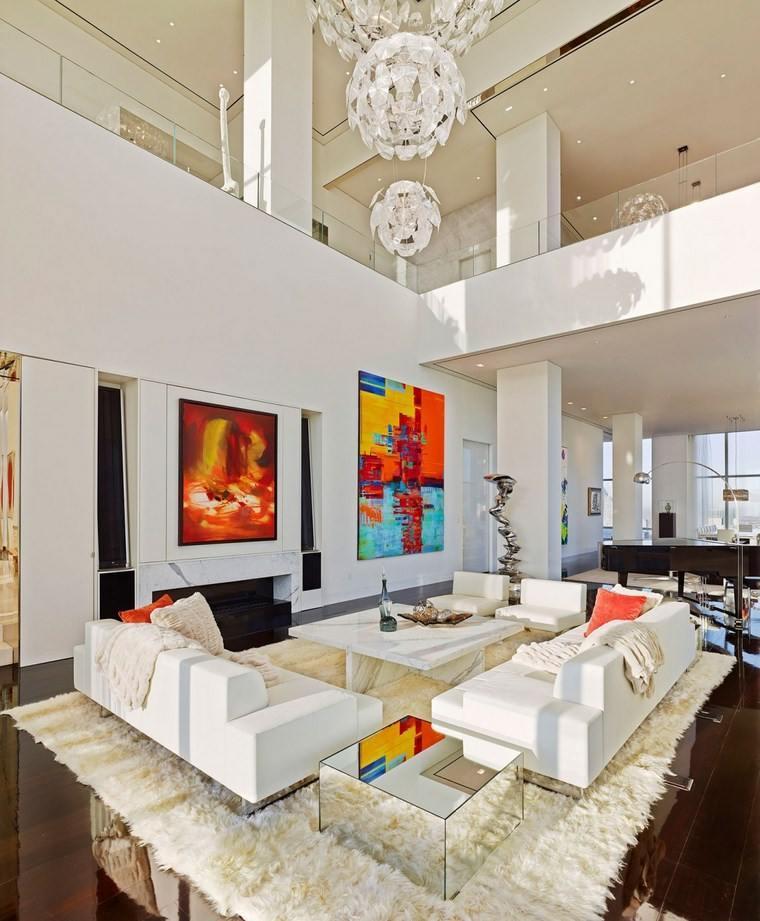 Oda New York residencia privada salon mesa marmol ideas