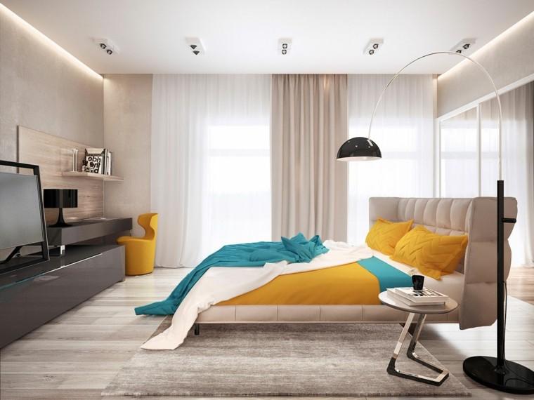 Pavel Voytov diseno dormitorio cama colores ideas