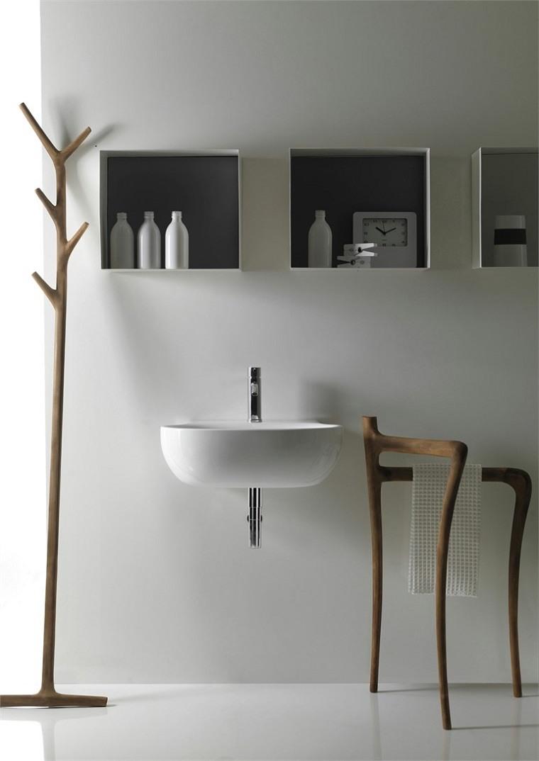 Muebles de ba o modernos de estilo r stico 49 modelos for Accesorios para banos rusticos