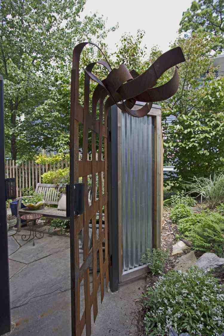 acero corten opciones jardin elementos decorativso ideas