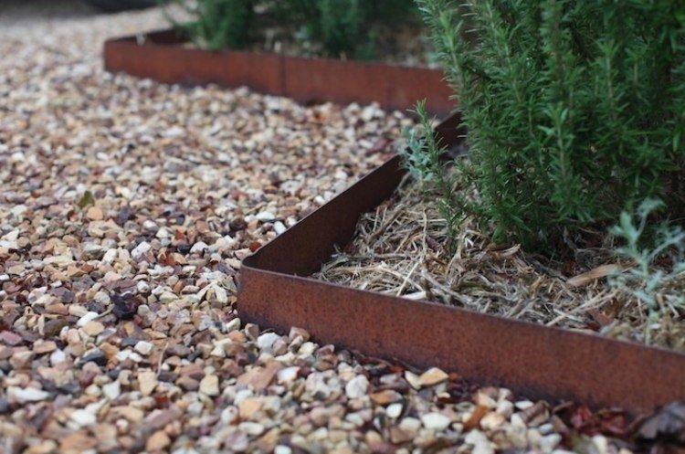 acero corten opciones jardin ideas piedras plantas ideas