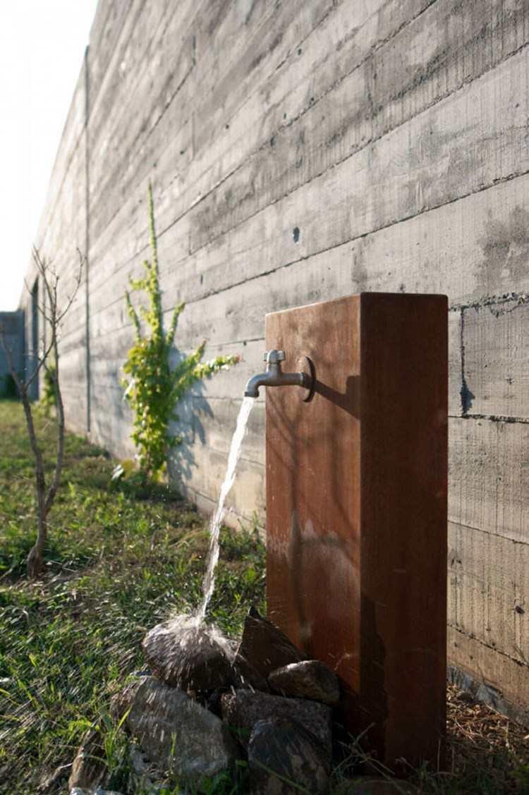 acero corten opciones jardin lavabo bonito ideas
