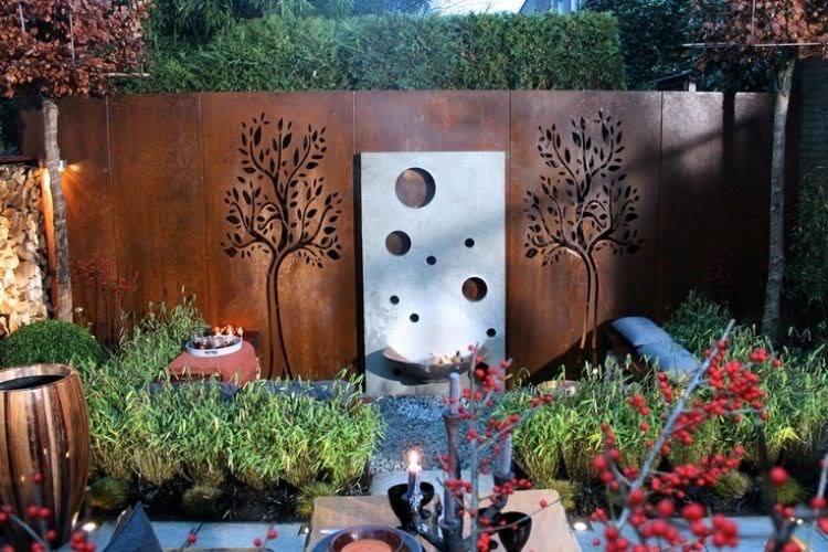 acero opciones jardin pared preciosa plantas ideas