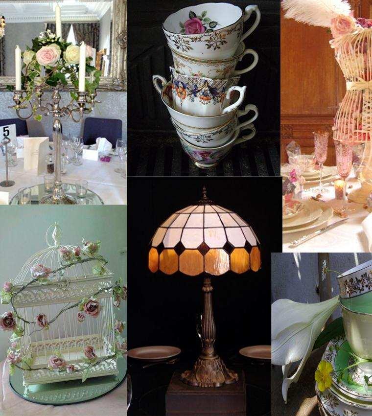 Decoracion boda vintage ambientes rom nticos con clase for Vajilla retro