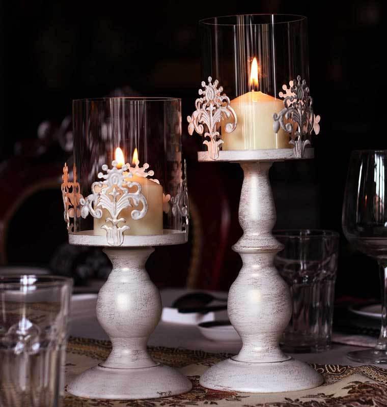 candelabros velas estilo vintage
