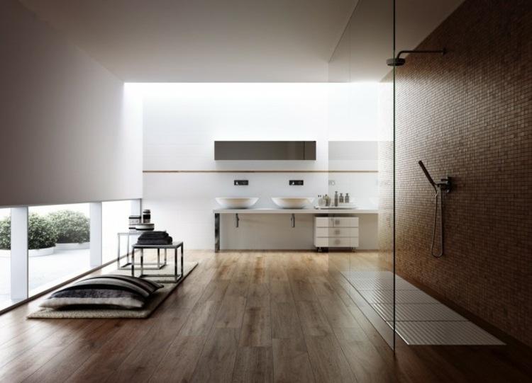 alargados almarios detalles contrastes duchas paredes