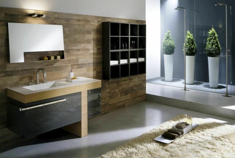 Diseno De Baños Alargados:Madera diseño en 50 ideas para baños acogedores -