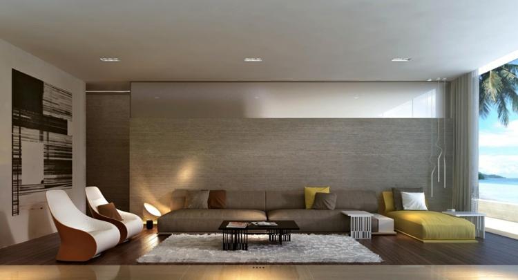 alfombras laterales zonas espacios amarillo
