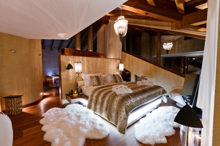 alfombras preciosas cama cabecero moderno ideas