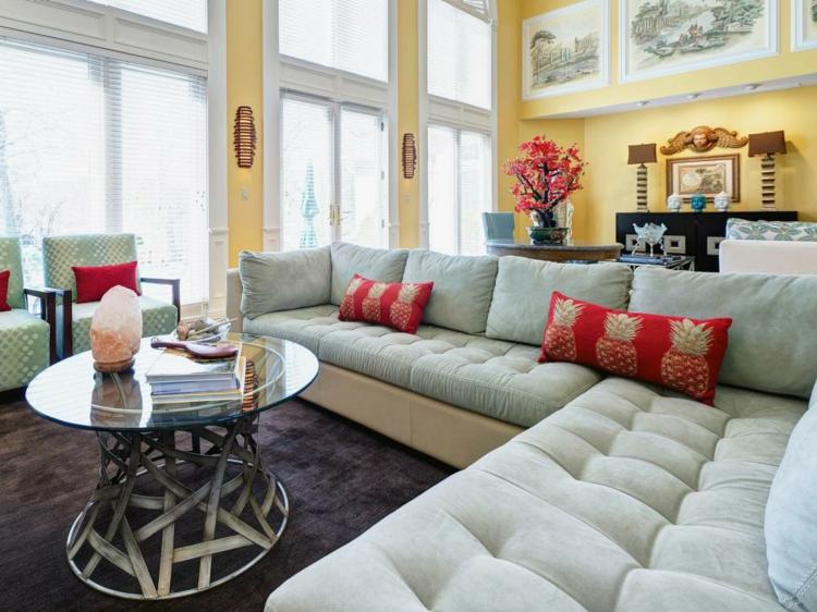 amarillo combinado blanco ideas muebles rojo