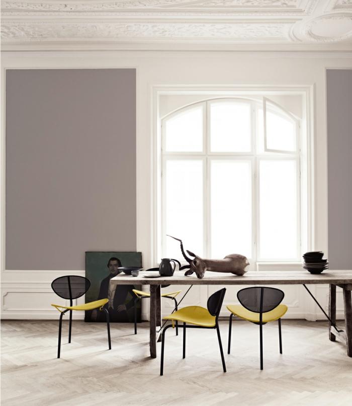 amarillo patrones sillas coronas cuadro ventanas