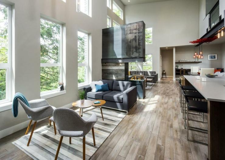 ambientes sala de estar salidas moderno