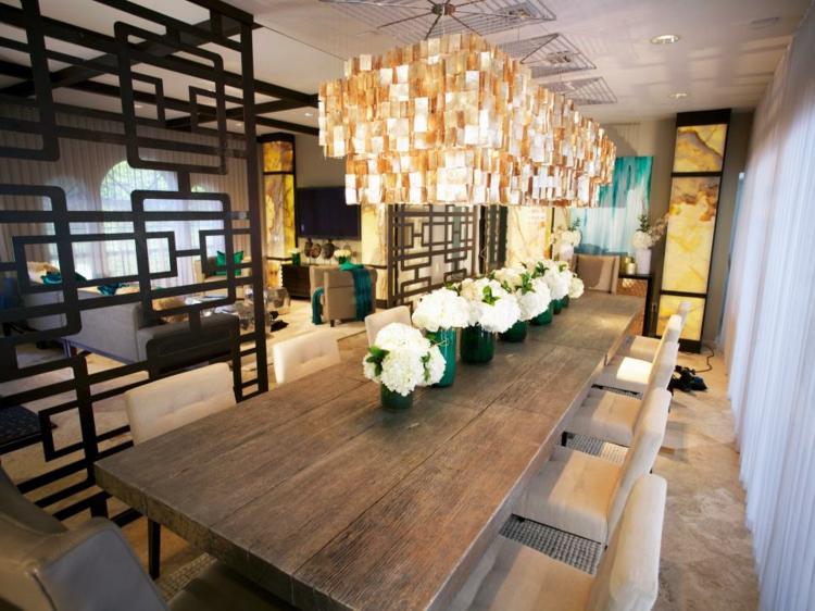 amplia ideas salas comidas flores luminarias