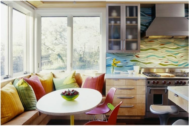 amueblar cocinas coloridos pequeñas blanco