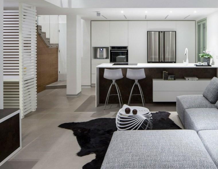 apartamento cocina salon abiertos ideas